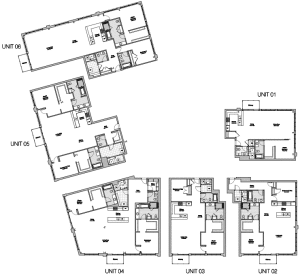 District Lofts Eton - Key - 2nd and 3rd floor unit layouts